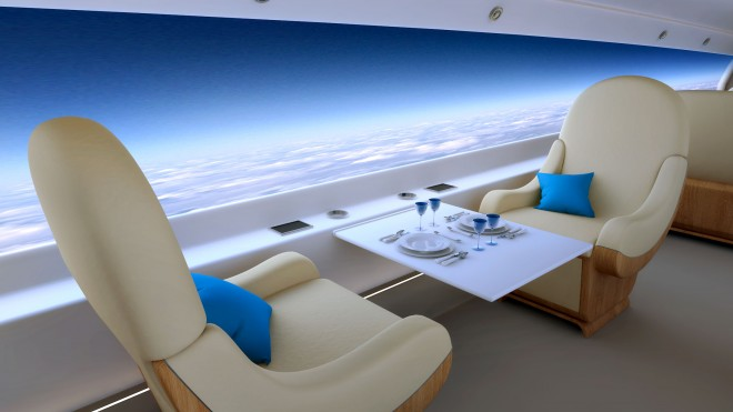 Screens Replace Windows On Supersonic Jets