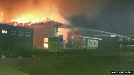 A Fire Station Destroyed in Fire @ Downham Market