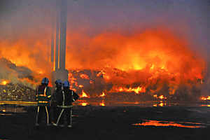 Tipton Timber Blaze Suspected as Setting Fire, says the Fire Service
