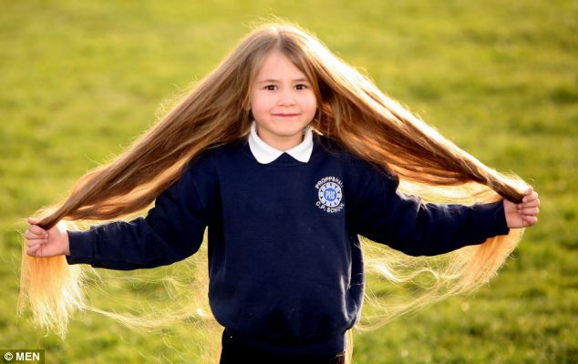Real-Life Rapunzel: Girl from Failsworth has Fast Growing Long Blonde Hair