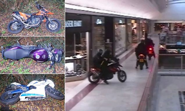 The motorbike which was later found abandoned in Eaton Square, Belgravia