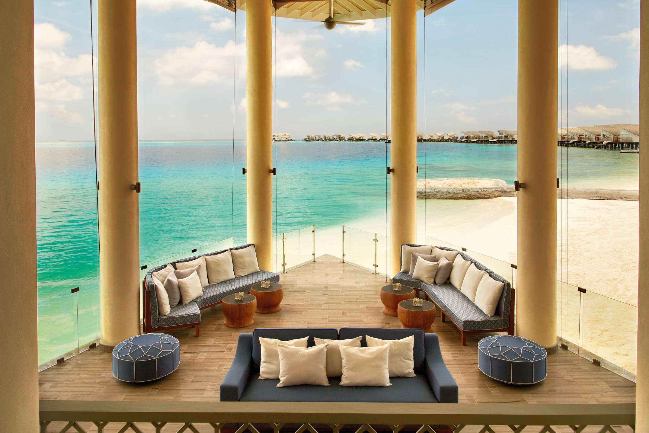 The royal couple is staying at one of the most exclusive resorts in the Indian Ocean - the five- star Cheval Blanc Randheli Hotel on Noonu Atoll(1)