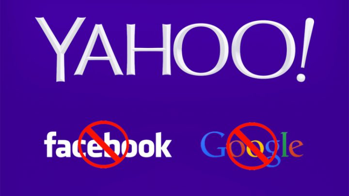 Yahoo to Ban Facebook and Google Log-ins