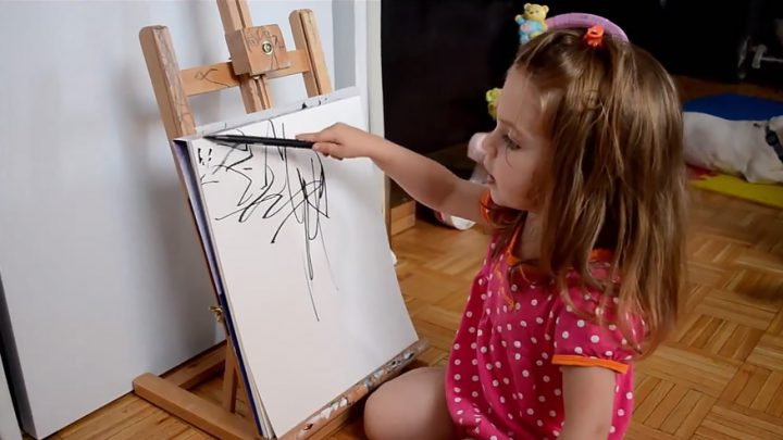 Sketches of 2 Year Old, A Creational Inspiration for Her Artist Dad