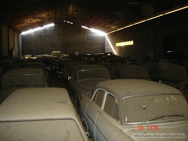 Austin A40 Somerset and endless rows of other cars.