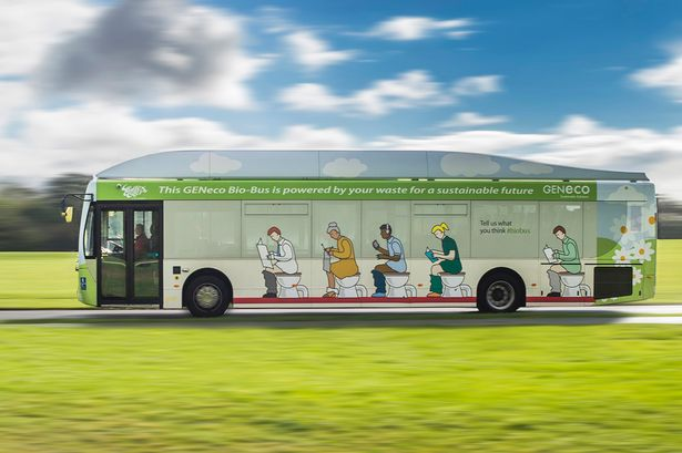 Britain's first bus powered by HUMAN WASTE hits the road1