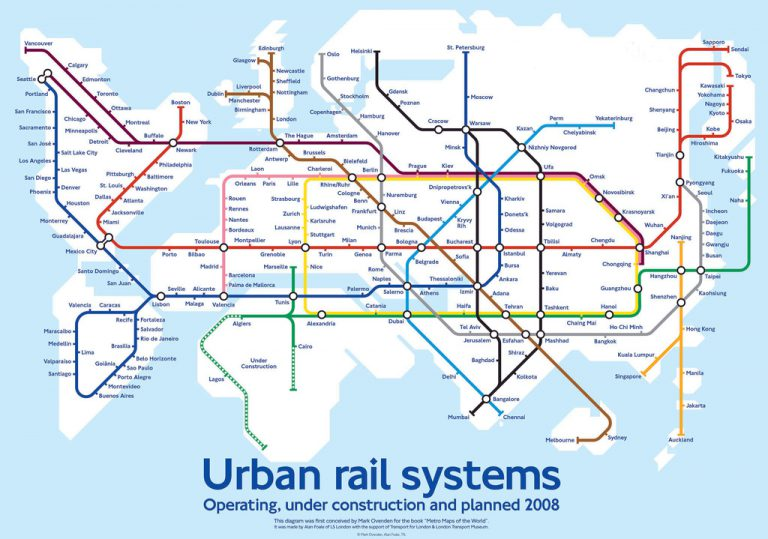 Global Metro Map What a New Hyperloop Subway Might Look Like