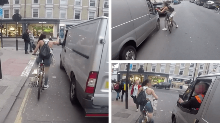 The viral video of a cyclist's revenge on cat-callers' may be faked