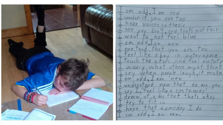 An autistic boy writes a poem about life – The result is inspiring