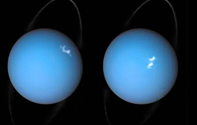 The Hubble space telescope has spotted a huge object coming out of Uranus – and it's caused by powerful bursts of solar wind.