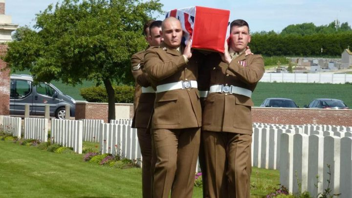 Remains Of WW1 'Battle Of The Somme' Hero Finally Laid To Rest After 100 Years