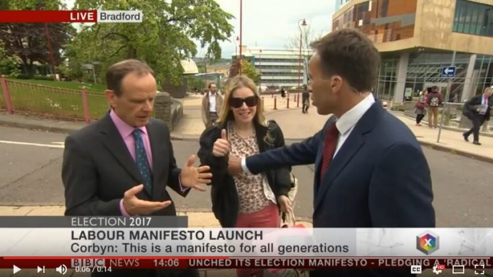 BBC Reporter Appears To Grope Woman's Breast On Live TV & Gets A Slap
