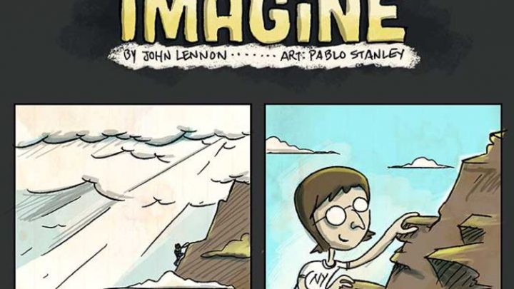 "John Lennon's ""Imagine"" Made Into a Relevant Comic Strip 'Love Manchester'"