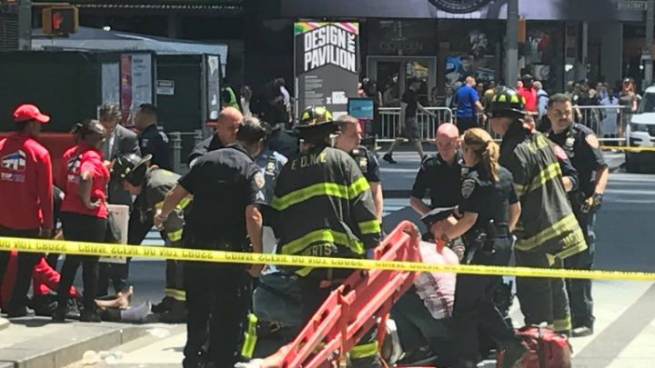 Shocking Footage Of Moment Car Ploughs Into Pedestrians In New York's Times Square