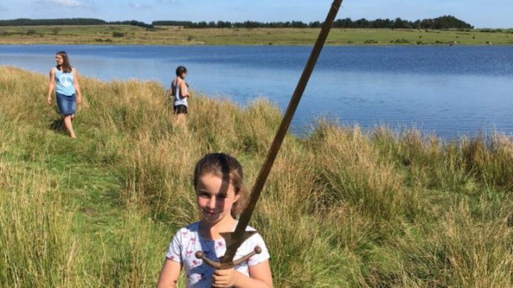 Schoolgirl On Holiday In Cornwall Pulls Legendary Excalibur Sword From Bodmin Moor Lake