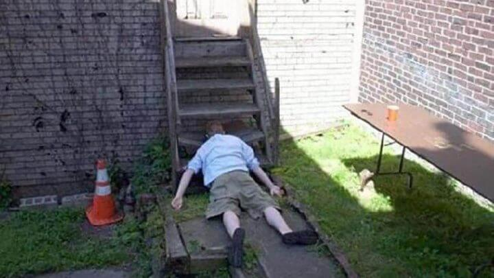 Hilarious Photos Show Revellers Who Have Decided To Pass Out In The Strangest Positions