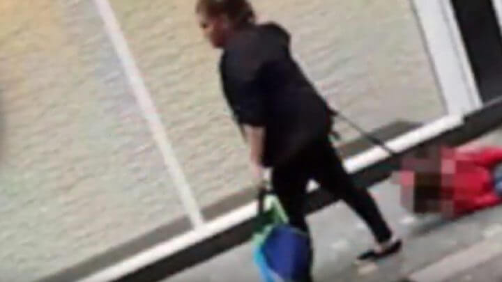 Woman Filmed Dragging Her Child Through The Streets Of Liverpool After He Fell Over