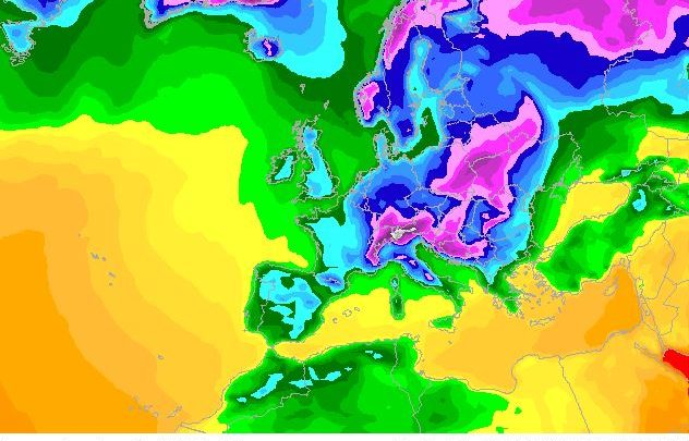 Latest weather models show by 30th Nov, UK will be below freezing at sea level during the Day