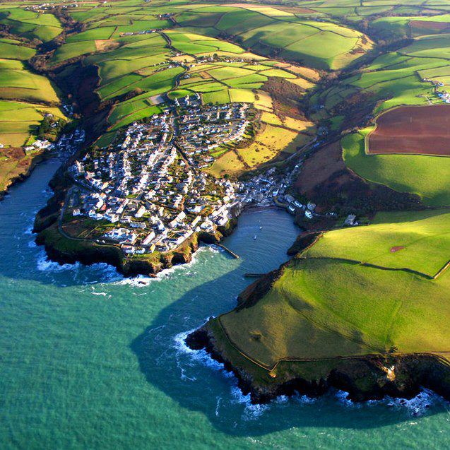 Port Isaac from the air! Home of Doc Martin