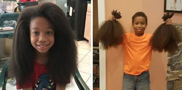 This boy spent 2 years growing his hair solely to donate to cancer patients <3